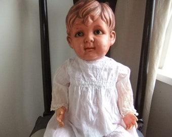 "Antique 1920,s Japanese Sekiguchi celluloid boy Doll 22"" tall"