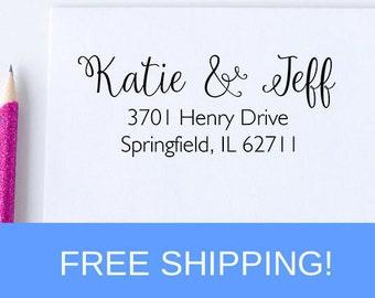 Self Inking Return Address Stamp - Address Stamp - Personalized Stamp  (D136)