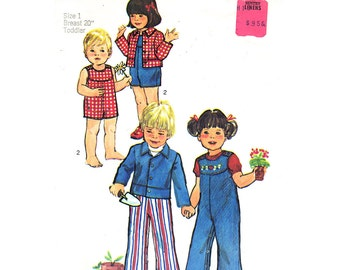Toddler Sewing Pattern Simplicity 6297 Boy or Girl Jacket Overalls Romper Sunsuit Toddler Size 1 Pattern