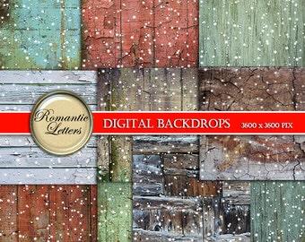 Christmas digital paper pack Christmas printable scrapbook paper pack scrapbook Christmas paper snow digital paper winter digital background