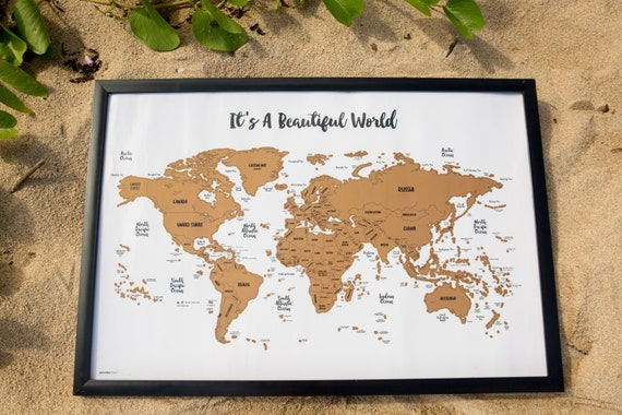 Ships fast free its a beautiful world scratch your ships fast free its a beautiful world scratch your travels world map 30x20in watercolor art international poster gift gumiabroncs Image collections