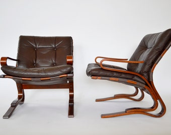 Kengu Lounge Chairs by Elsa and Nordahl Solheim for Rybo Rykken & Co, 1960s, Set of 2