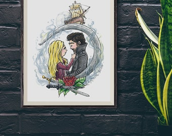 Captain Swan / Emma Swan / Captain Hook | OUAT | Print