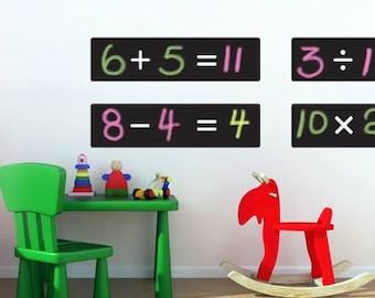 Math Wall Decals Etsy