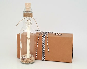 Classic CUSTOM Message in a Bottle in Gift Box, Your PERSONALIZED Message, Say ANYTHING You Want, Perfect for Anniversaries, Love Note