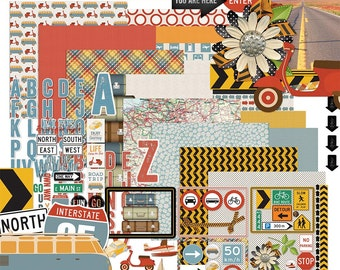 Road Rules - Travel and Vacation Digital Scrapbooking Kit