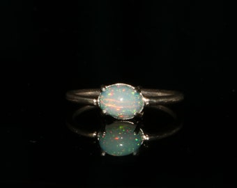 Ethiopian Opal Ring - Natural Opal Ring - Natural Fire Opal Ring - White Opal Ring - Opal Ring - Opal Jewelery - Size US 3 to 14 - VIDEO