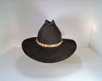 Black Quarter Horse Silver Spur B Bar H 100% wool western cowboy hat
