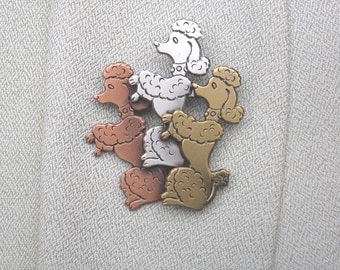Poodle Brooch- Poodle Jewelry- Dog Lover Gift- Dog Breed- Dog Rescue Jewelry
