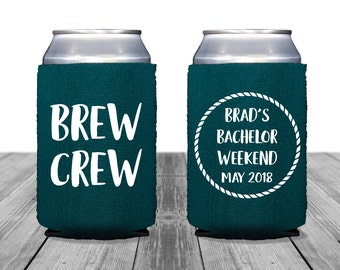 Neoprene Can Coolers, Personalized Coolies, Wedding Can Huggers, Bachelor Party, Custom Coolies, Tailgate, Beer Coolies, Brew Crew
