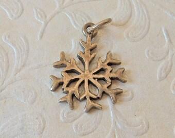 Snowflake Sterling Silver Charm Pendant