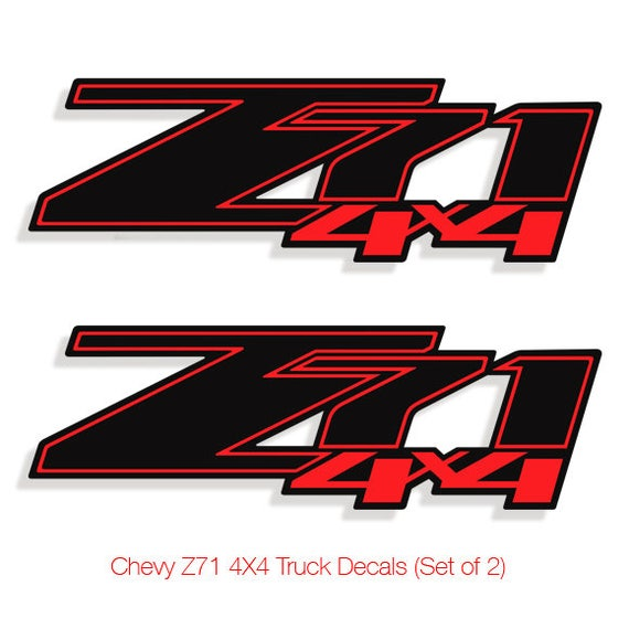 Z71 4x4 chevy decals stickers truck silverado vinyl decal