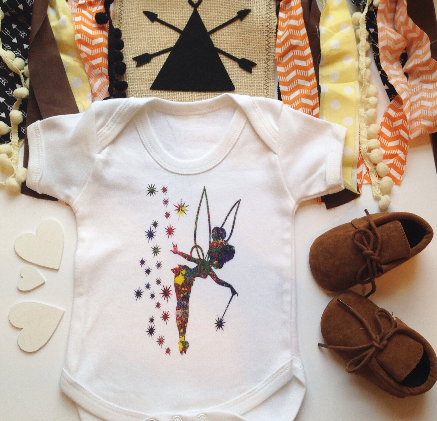 Tinkerbell Bodysuit Cotton Baby Clothes Baby Shower Gift New Baby
