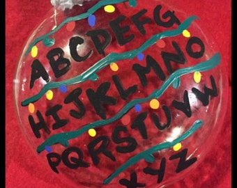 Christmas Alphabet Ornament