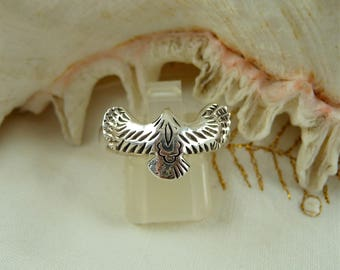 SALE Eagle Ring Sterling Silver, Open Wing Eagle, Flying Eagle Ring, Silver Eagle, Bird Ring, American Eagle Ring, Sterling Eagle Ring