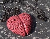 Pink Brain Necklace