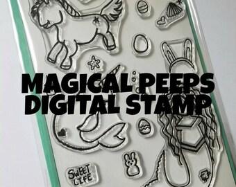 Magical Peeps Digital Stamp