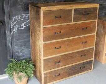 Rustic Modern Minimalist Barn Wood Dresser