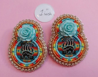 Beaded Bear paw Earrings