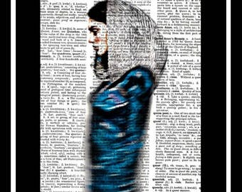 523 Middle Eastern woman vintage dictionary art