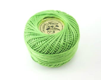 Pearl Cotton Thread   Presencia Finca Perle Cotton Thread for Hand Embroidery, Quilting, Needlework - Chartreuse (4636)