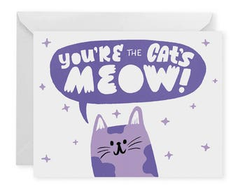 Cat's Meow A2 Greeting Card