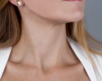 Rose Gold Stud Earrings, Square Earrings, Large Stud Earrings, Dainty Stud Earrings, Minimal Earrings, Square Studs, Geometric Earrings
