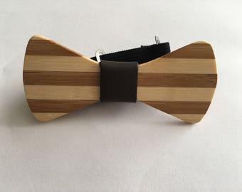 Bamboo kids Bowtie - bow tie - kids bow tie - bamboo - wood bowtie