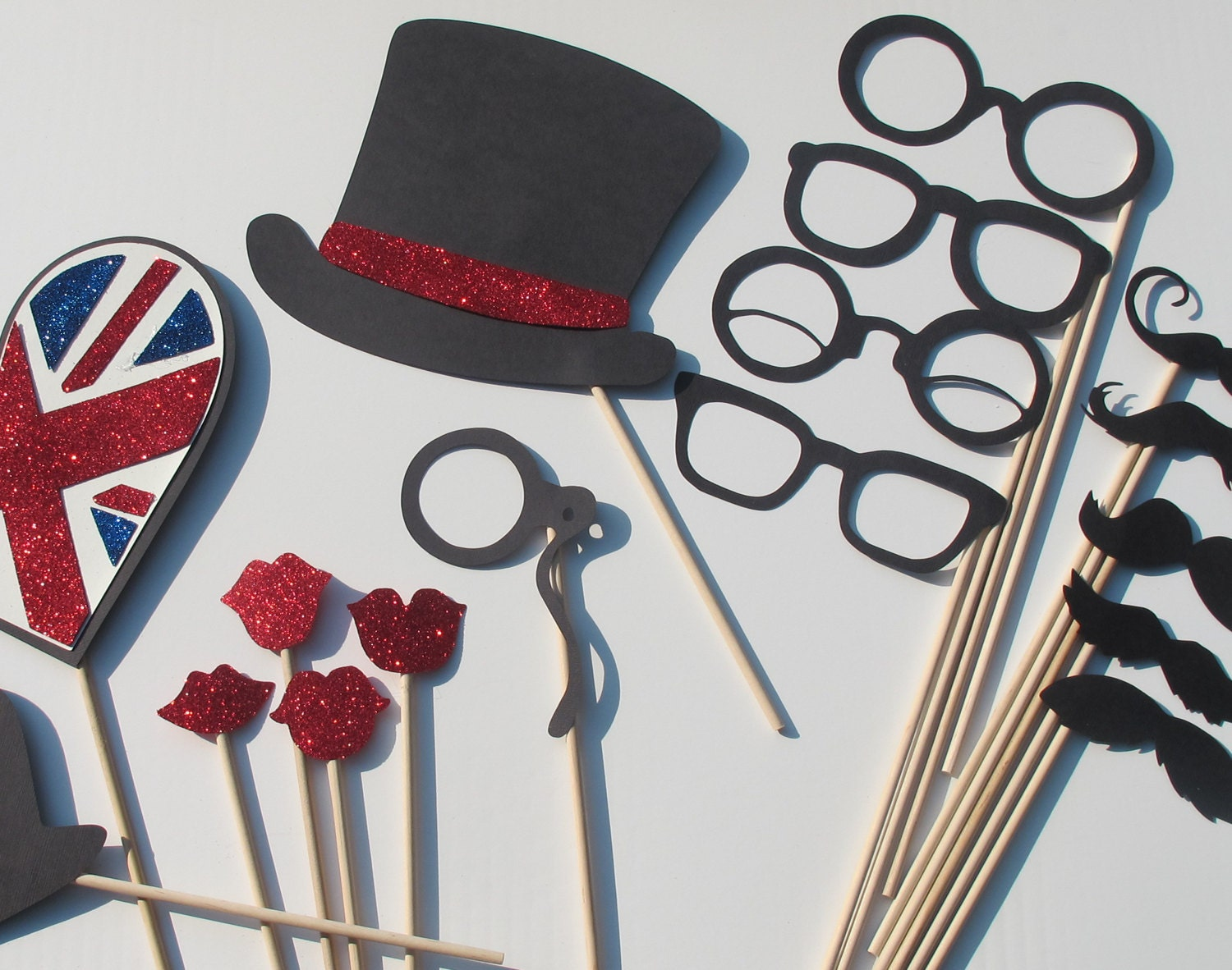 British Wedding Photo Booth Props Photobooth Props