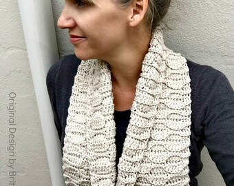 Long Scarf Crochet Pattern - Autumn Leaves Crochet Scarf Pattern No.516 Instant Digital Download PDF File English