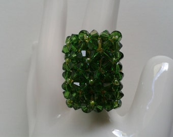 Ring-Swarovski Fern Green