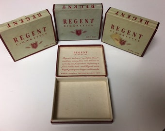 Regent (4 boxes for 15.00) Cigaretts Boxes from the 1950's Wonderful Condition Lower Price