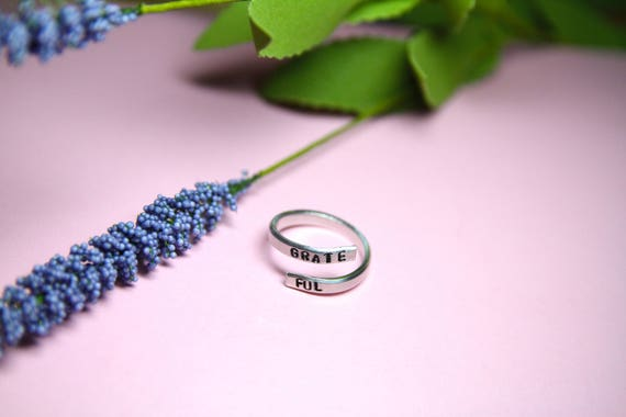 Grateful Ring. Grateful jewelry. I am Grateful. Yoga jewelry. Yoga Ring. Yoga Gift.
