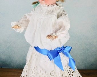Antique Vintage Armand Marseille AM German Bisque 370 toddler girl doll c1900 original clothes
