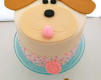 Doggy Cake Topper , Puppy Cake Topper , Puppy Topper, Doggy Topper