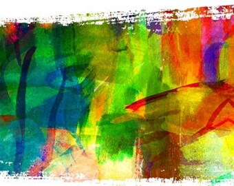 Abstract Rainbow fabric