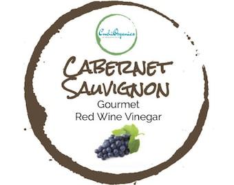 CABERNET SAUVIGNON VINEGAR | 13 oz 375 ml | gourmet wine vinegar | red wine vinegar | glass bottle with wood natural cork