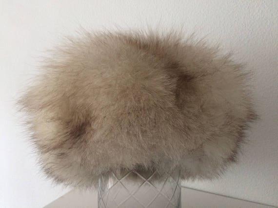 """Vintage authentic Russian """"Rot Front Leningrad"""" fox fur hat, size 57"""