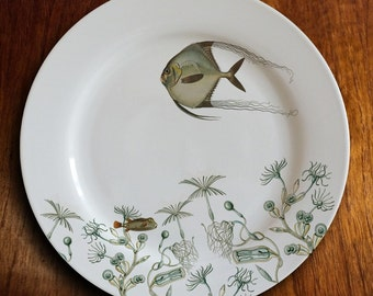 """fishy fish Dinner Plate - """"angelique"""""""