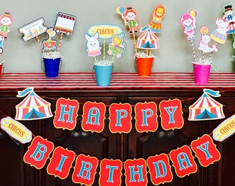 Carnival Party/Circus Party/Circus 1st Birthday/Carnival 1st Birthday/Circus Carnival Baby Shower Centerpieces-3 sticks PLUS pail