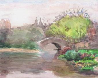 Gapstow Bridge in Spring, 2011