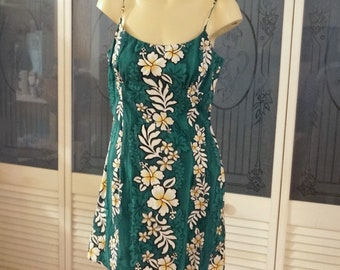 Vintage Royal Creations Hawaiian Floral Sundress Dress EDC