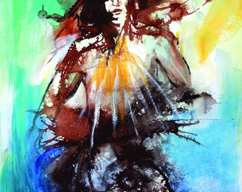 God Speaks- 11 x 15 Original painting from Oracle Of Echoes