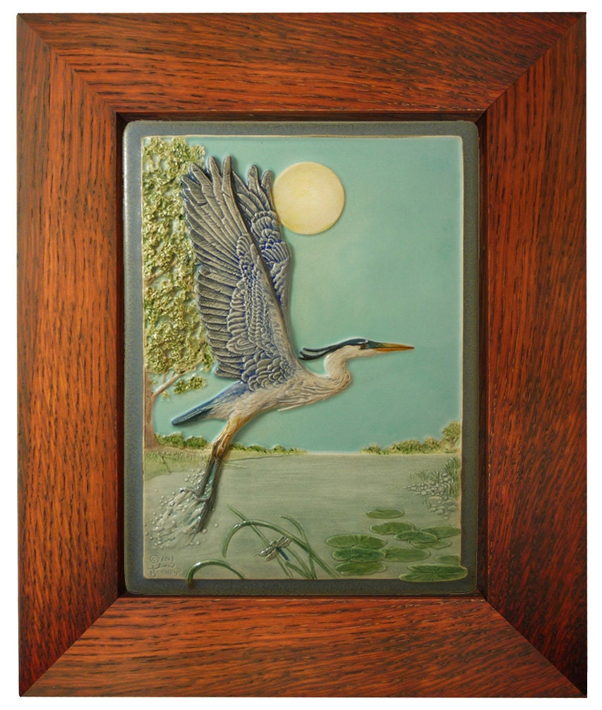 Framed ceramic art tile taking flight tile 6x8 inches zoom dailygadgetfo Images
