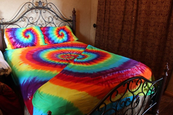 Tie Dye Bed Sheet Set Twin Twin Xl Full Queen Or King