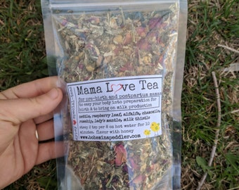 Mama Love ~ Organic Postpartum Nourishment Tea | Breastfeeding Tea | New Mother's herbal tea blend | Organic Mother's Tea
