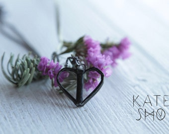 Mini heart necklace, boho necklace, minimalist necklace, heart pendant, bohemian necklace, hippie necklace, boho chic necklace, simple