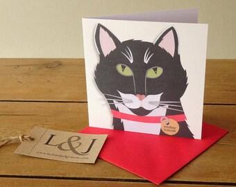 Cat Greeting Card, Cat Cards, Cute Cat Card, Crazy Cat Lady, Cat Lover Gift, Cute Cat, Black Cat, Cat Lover Card, Pet Card, Funny Cat Card