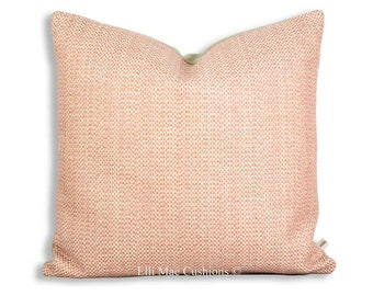 Luxury Designer Blush Pink Weave Fabric Cushion Pillow Throw Cover