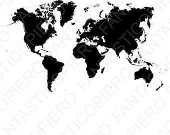 World map svg etsy world map svg file for silhouette cameo and cricut world map clipart png included gumiabroncs Gallery